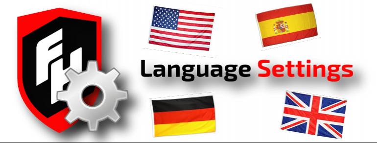 Language Settings | Configurar idiomas | Einstellung Sprachen